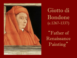 "Giotto di Bondone (c.1267-1337) ""Father of Renaissance Painting"""