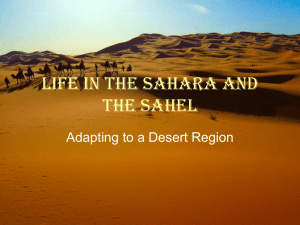 Life in the Sahara and the Sahel