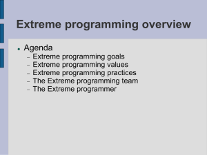 Introduction to Xtreme Programming
