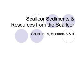3 Seafloor Sediments and Resources