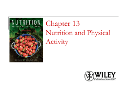Chapter ---- Carbohydrates: Sugar, Starches and Fiber