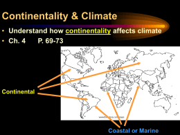 2.6 Continentality & climate