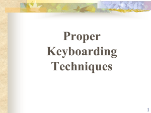 Proper Keyboarding Technique and Procedures