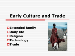 Cornell Notes: Early West African Trade and Culture
