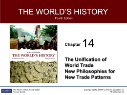 Chapter 14 _The Unification of Wrold Trade