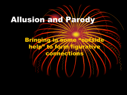 Allusion and Parody