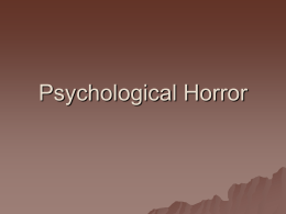 Psychological Horror Notes