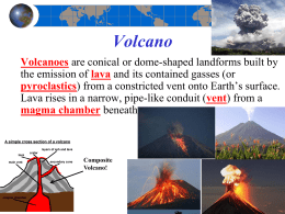Chapter 4 volcanoes powerpoint notes