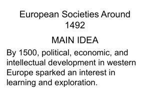 ch1_3 European Societies Around 1492