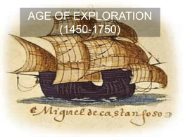 AGE OF EXPLORATION (1450-1750)