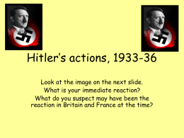 Hitler`s actions, 1933