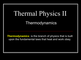 Thermal Physics II