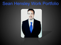 Portfolio - Sean Hensley