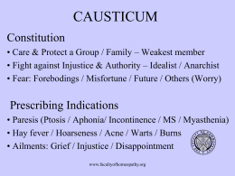 Causticum - Faculty of Homeopathy