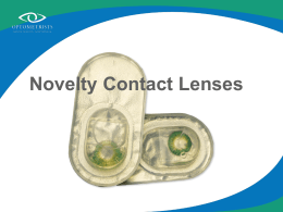 Novelty contact lenses - Optometrists Association Australia