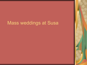 mass weddings at susa