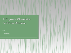 11th grade Chemistry Portfolio Defense old version