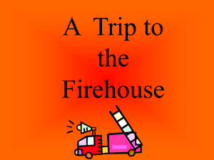 Trip to the Firehouse Vocabulary PowerPoint