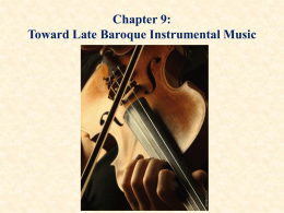 Chapter Five: Baroque Art and Music