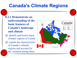 Climate Regions PowerPoint