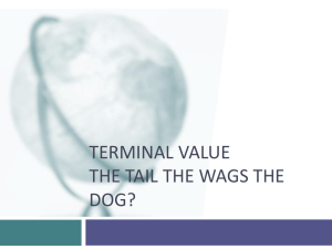 Terminal Value: A test