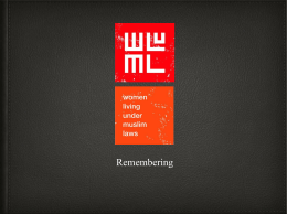 CSW WLUML-presentation-remembering