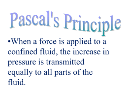 Bernoulli`s Principle:
