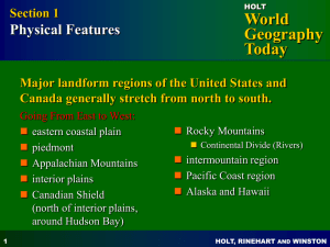 North America Physical Features