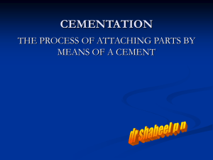 CEMENTATION of fpd