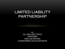 Limits of Remuneration to Partners