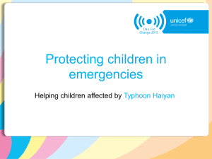 Protecting children in emergencies