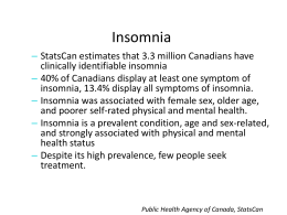 Public Health Agency of Canada, StatsCan