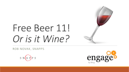 Engage2015_FreeBeerandWINE