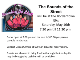 Sounds of the Street May 16th