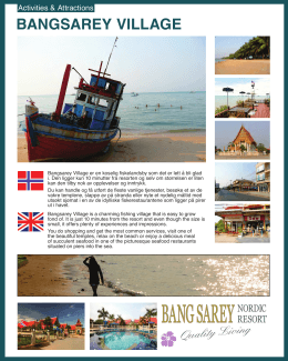 bangsarey village - Rent your own place in the sun!