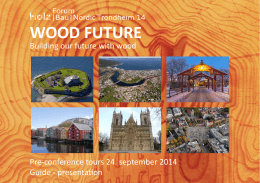 WOOD FUTURE - Building our Future with Wood