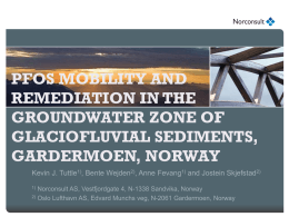 pfos mobility and remediation in the groundwater zone of