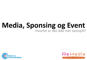 Rune Danielsen, Re:Media - Sponsor og eventforeningen