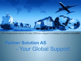 - Your Global Support