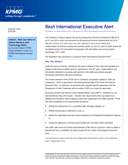 Flash International Executive Alert