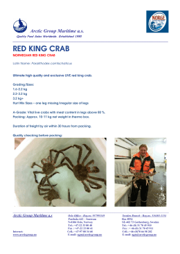 RED KING CRAB - Arctic Group Maritime AS