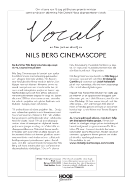 Nils Berg CiNemasCope
