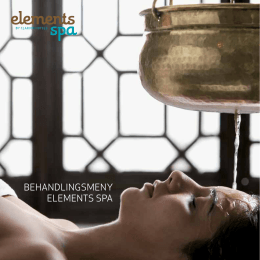 BEHANDLINGSMENY ELEMENTS SPA