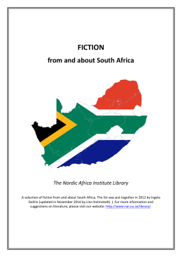 FICTION - The Nordic Africa Institute