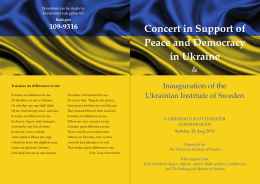 Concert in Support of Peace and Democracy in Ukraine