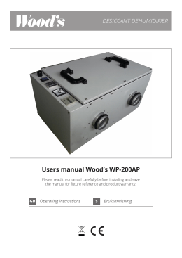 Users manual Wood`s WP