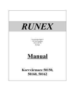 Manual - RUNEX