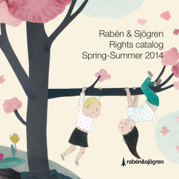 Rabén & Sjögren Rights catalog Spring-Summer 2014