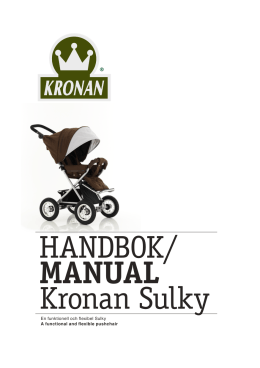 HANDBOK/ MANUAL Kronan Sulky