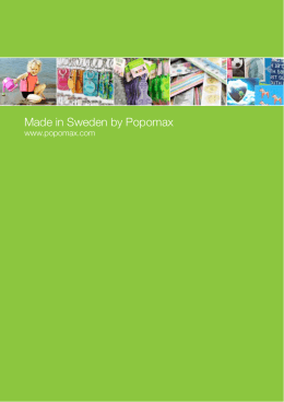 Made in Sweden by Popomax
